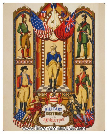 Print of Military Uniforms of the American Revolution