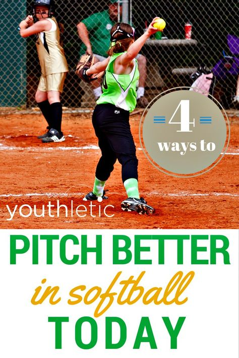 4 simple and easy ways to improve a softball pitcher's throw: https://www.youthletic.com/articles/how-to-pitch-better-in-softball/?utm_source=pinterest&utm_medium=referral&utm_campaign=organic