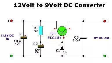 Electrical And Electronics Engineering 12v To 9v Dc Converter Circuit Electronic Engineering Circuit Converter