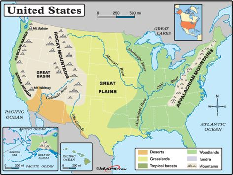 Major US Landforms And Rivers Its The Truth Its Factual - Missouri river on a us map