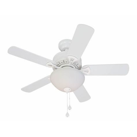 Clic White Ceiling Fan 43 Not Bad And I Could Always A Fancier Lighting Kit