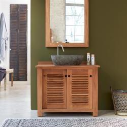 Waschtisch Aus Teak 95 Colinetikamoon Aus Colinetikamoon Diybathroomvanitysimple T In 2020 Teak Bathroom Bathroom Furniture Design Brown Bathroom Decor