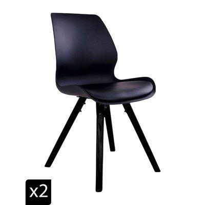 House Nordic Rana Lot De 2 Chaises Noir Chaise Noire Vente Privee Decoration