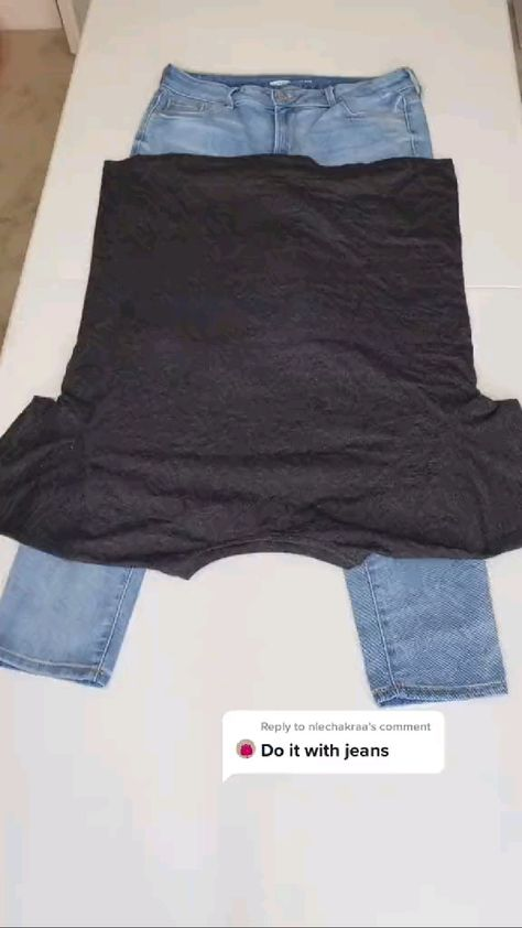 how to fold shirts & Jeans