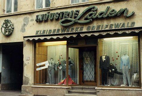 Unique Greifswald January VEB Industrie Laden Kleiderwerke my kind of shop with DDR Neon