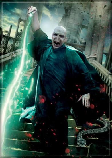 Magnet: Harry Potter Deathly Hallows Voldemort with Wand Art Image