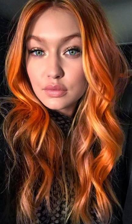Hair Color Red Copper Blue Eyes 57 Ideas Red Orange Hair Copper Balayage Red Hair Green Eyes