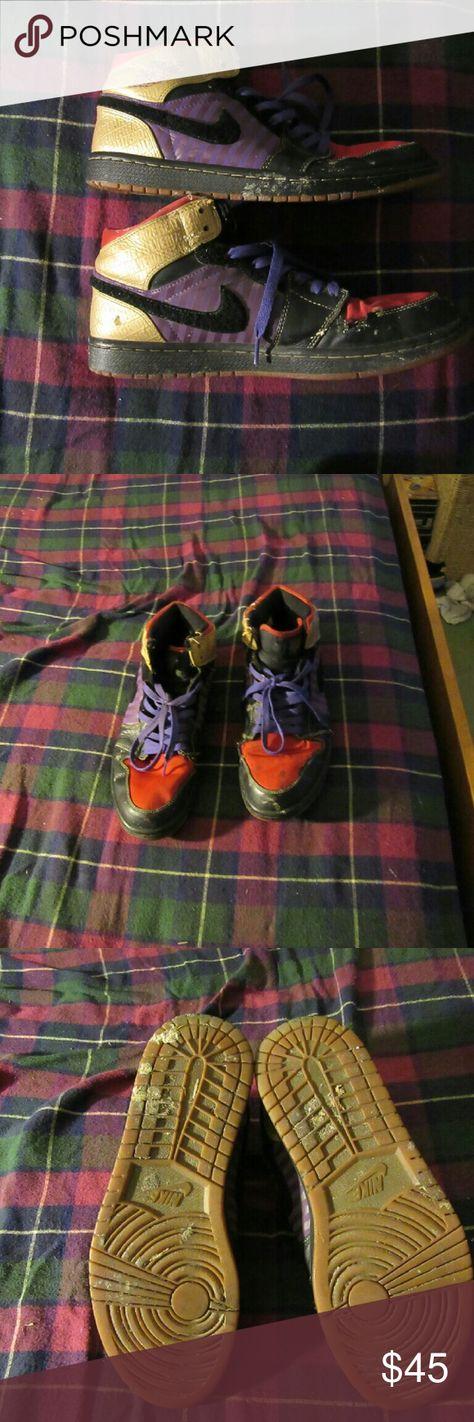 Nike Air Jordan 1 Retro High Leroy Smith 10.5 fair shape  still have much  life left 386186-071 Nike Air Jordan 1 Retro High