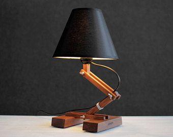 Unusual Table Lamp Industrial Lamps Office Lamp Modern Wood Lamp Wood Lamp Resin Lamp Wood Art Wood And Resin Bedroom Night Lamp Unusual Table Lamps Industrial Table Lamp Unique Table Lamps