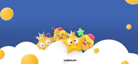رمز تعبيري أبيض كرة الكرة الأزرق الغيوم أصفر In 2020 Print Design Template Cartoon Expression Emoji Images
