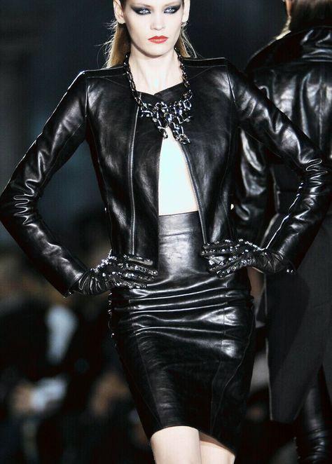 Pin von Rahaman Holley auf Black Leather Jacket Girls in