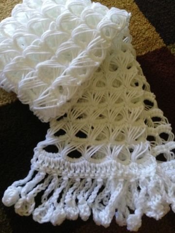 Easy Broomstick Lace Collar Or Scarf Pattern Broomstick Lace