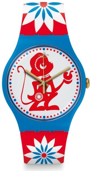 Swatch watch 'Lucky Monkey' references Chinese New Year the year of the Fire Monkey
