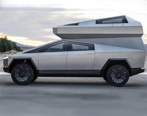 The Cybertruck Camper Concept Builds On Tesla S Bulletproof Off Roader Male Character Fahrzeuge Wohnmobil