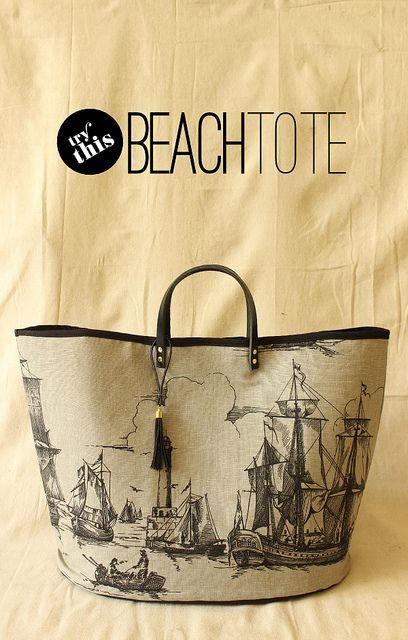 Beach Tote Tutorial by {Fabric Paper Glue}