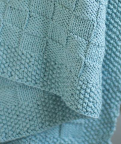 Block Stitch Baby Blanket Using Berroco Pima 100 In 2020 Baby Blanket Knitting Pattern Blanket Knitting Patterns Baby Knitting Patterns