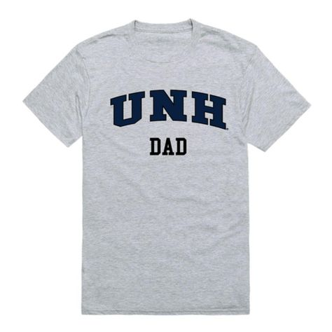 UNH University of New Hampshire Wildcats College Dad T-Shirt - Heather Grey / Small