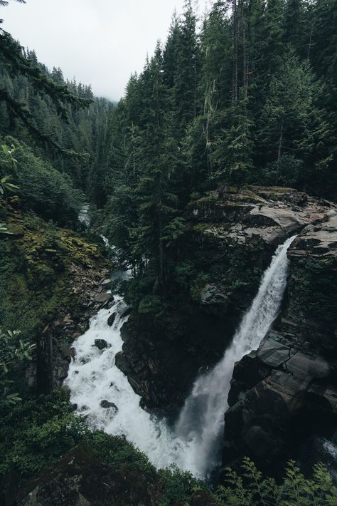 An extremely unique looking waterfall hidden away in the forests of Washington State. [OC][4016x6016]