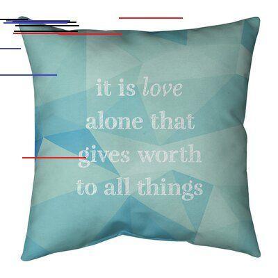 East Urban Home Faux Gemstone Love Inspirational Quote Pillow Wayfair East Urban Home Faux Gemstone Love Inspirational Quot Pillow Quotes Pillow Size Pillows