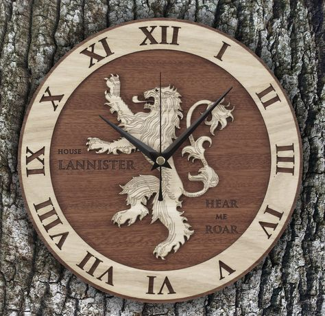 present Handmade Lannister Clock in...