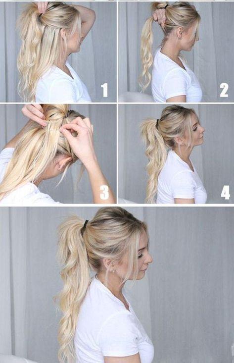 Frisuren Schritt Fur Schritt Sehr Einfach Und Schon Fur Die Schule Einfach Frisuren Coole Frisuren Mittellange Haare Frisuren Einfach Pferdeschwanz Frisuren