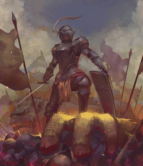 Last Man Standing, Seraphinus Calvin on ArtStation at https://www.artstation.com/artwork/od0PW