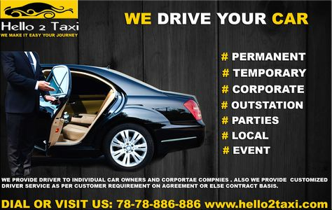 Your Car, Our Driver!!! Tea 2 Taxi Driver Service Provider For - vehicle service contract