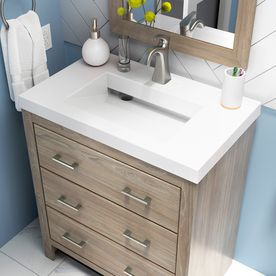 Style Selections 30 5 In Taupe Single Sink Bathroom Vanity With