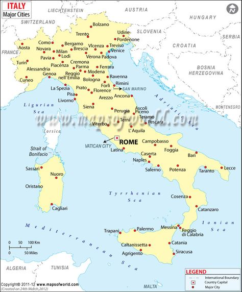 Map Of Italy With Cities map of italy cities   Google Search (con imágenes) | Mapas del