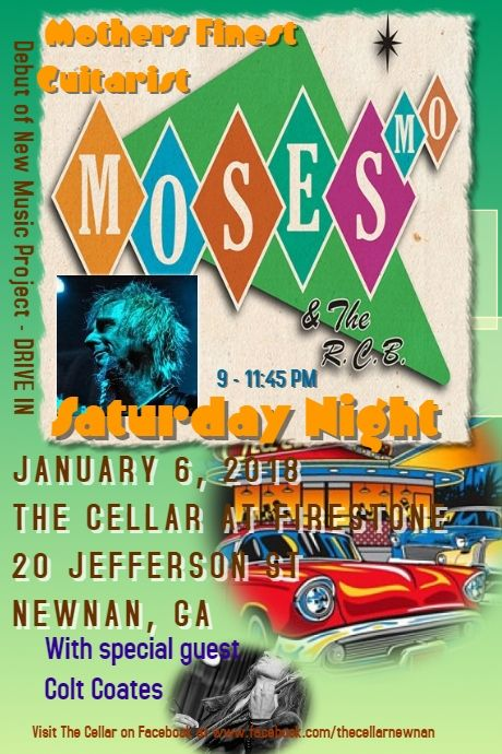 Mosesmo At The Cellar Concert Posters Special Guest Poster