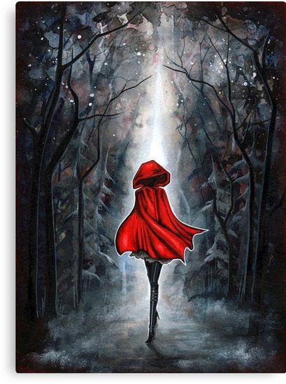Lienzo Caperucita Roja De Annya Kai Red Riding Hood Art Dark Fantasy Art Beautiful Art