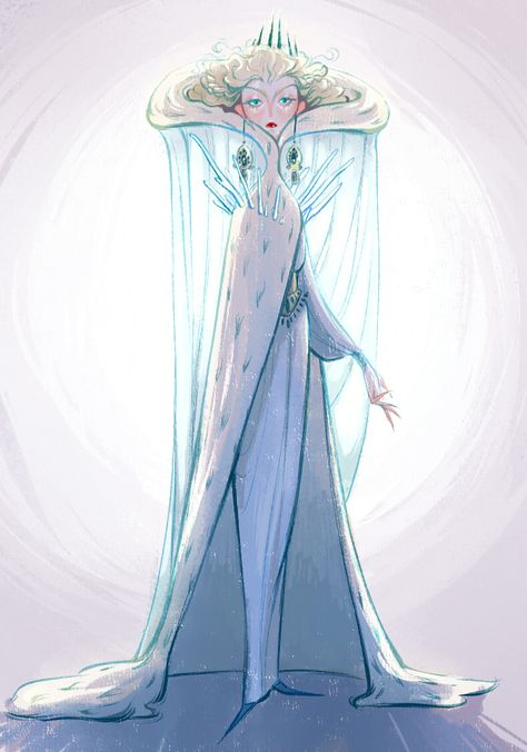 Remake of my snow queen design she's one fab lady ? [ for my wip and mis. : Remake of my snow queen design she's one fab lady ? [ for my wip and mis. Character Design Cartoon, Character Design Inspiration, Character Design References, Character Art, Character Concept, Simple Character, Character Illustration, Illustration Art, Drawn Art
