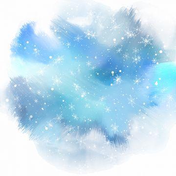 Snowflakes On Watercolour Background 2811 Watercolour Watercolor