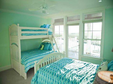 Ocean Themed Bedroom Decor Mint Blue Room Green Boys Room