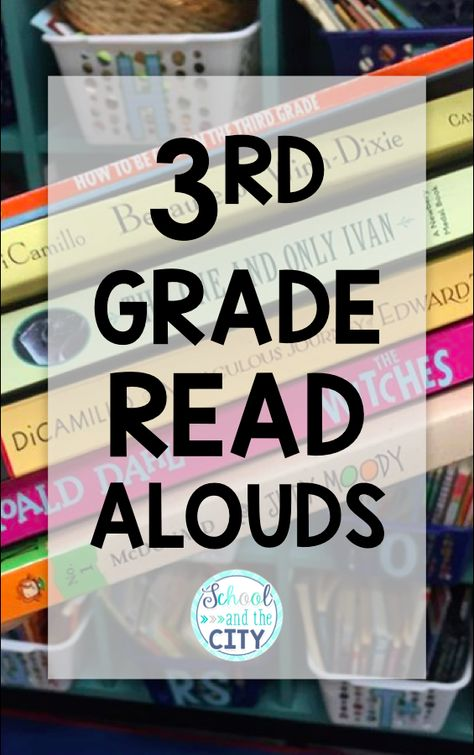 Check out this teacher- and student-approved list of grade read alouds. with links! Third Grade Books, Third Grade Reading, Grade 3, Fourth Grade, Third Grade Centers, 3rd Grade Art, 3rd Grade Classroom, Classroom Ideas, Read Aloud Books