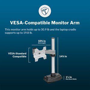 Varidesk Monitor Height Adjustable 2 Screen Desk Mount Em 2020