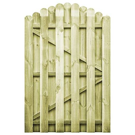 Vidaxl Portail De Jardin Bois Pin Impregne 100x150 Cm Arche