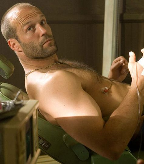 Jason Statham . . . all my favorite guys have stubble.