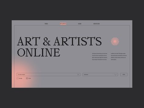 Website Online Museums and Exhibitions by Alisha Chef Graphic Design Print, Graphic Design Typography, Graphic Design Illustration, Branding Design, Interaktives Design, Layout Design, Fluent Design, Minimal Web Design, Grid Layouts