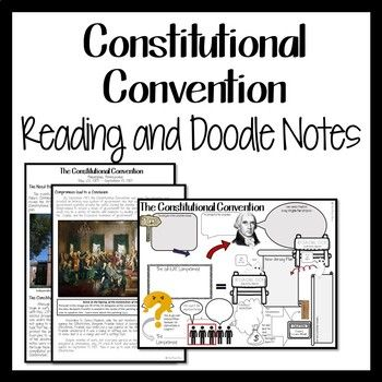 Constitutional Convention Readings And Doodle Notes Doodles