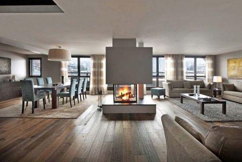 moderne wohnzimmer mit kamin wohnzimmer mit kamin modern hause ... - Interior Design Wohnzimmer Modern