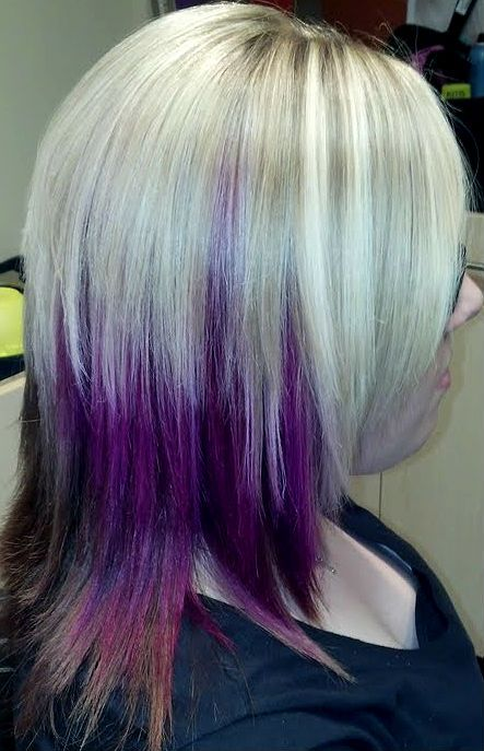 List Of Pinterest Magenta Hair With Blonde Highlights Dark Pictures
