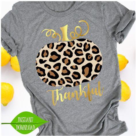 Leopard Pumpkin svg, Fall svg, Game Day shirt, football svg, svg design, pumpkin shirt, thankful svg, cut file, thanksgiving tshirt, blessed by shoplemonsandlollis on Etsy