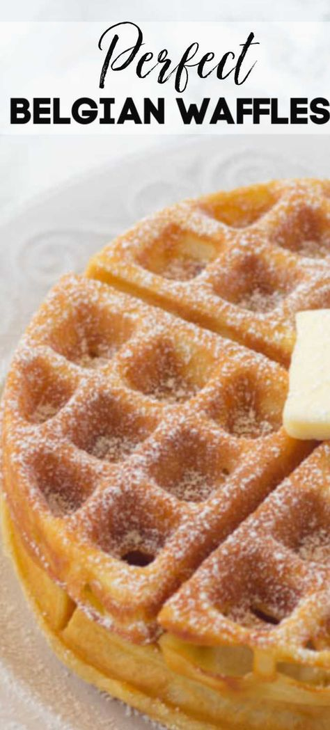 Homemade Belgian waffles are perfectly golden and crispy, on the outside while the insides are perfectly soft, fluffy and totally delicious! These easy waffles have deep grooves, ready for butter & syrup! This is the perfect waffle recipe to make for breakfast, lunch, brunch or breakfast for dinner!