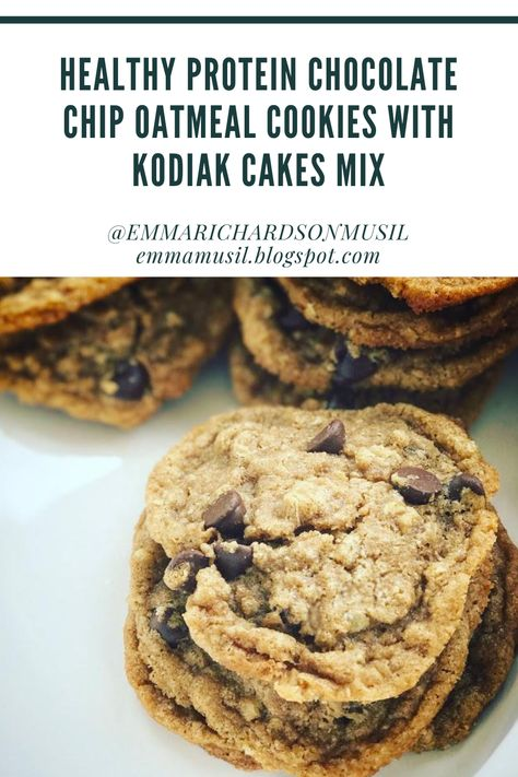 Oatmeal Protein Cookies, Protein Chocolate Chip Cookies, Protein Cake, Chocolate Chip Oatmeal, Healthy Cookies, Protein Deserts, Protein Cookie Dough, Protein Powder Recipes, Protein Recipes