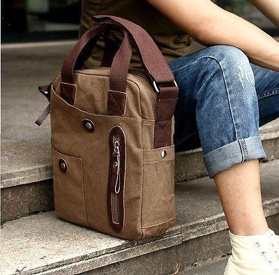 Best Canvas Bags Shoulder Messenger School Bag Vintage Military Travel Satchel