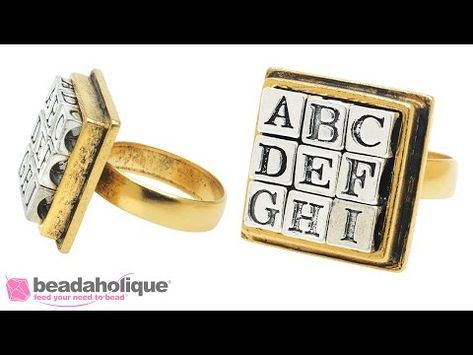 How To Make An Alphabet Ring Instructional Videos Beading