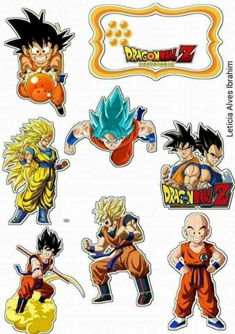 Topo De Bolo De Papel Do Dragon Ball Para Imprimir Gratis Dragon