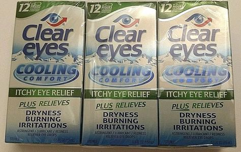 3 Clear Eyes Cooling Comfort Itchy Eye Relief Drops Expire 12 16 Itchy Eye Relief Itchy Eyes Eye Relief