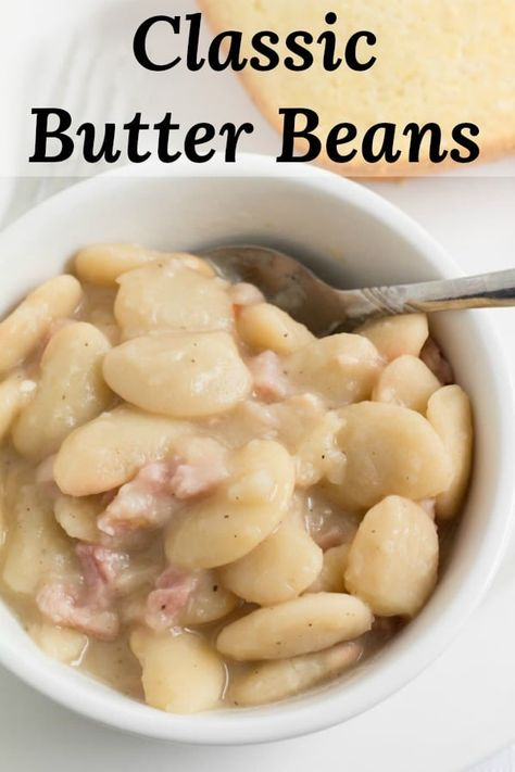 Creamy Old Fashioned Southern Butter Beans